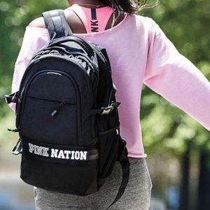 Victoria's Secret Pink Nation Black Backpack